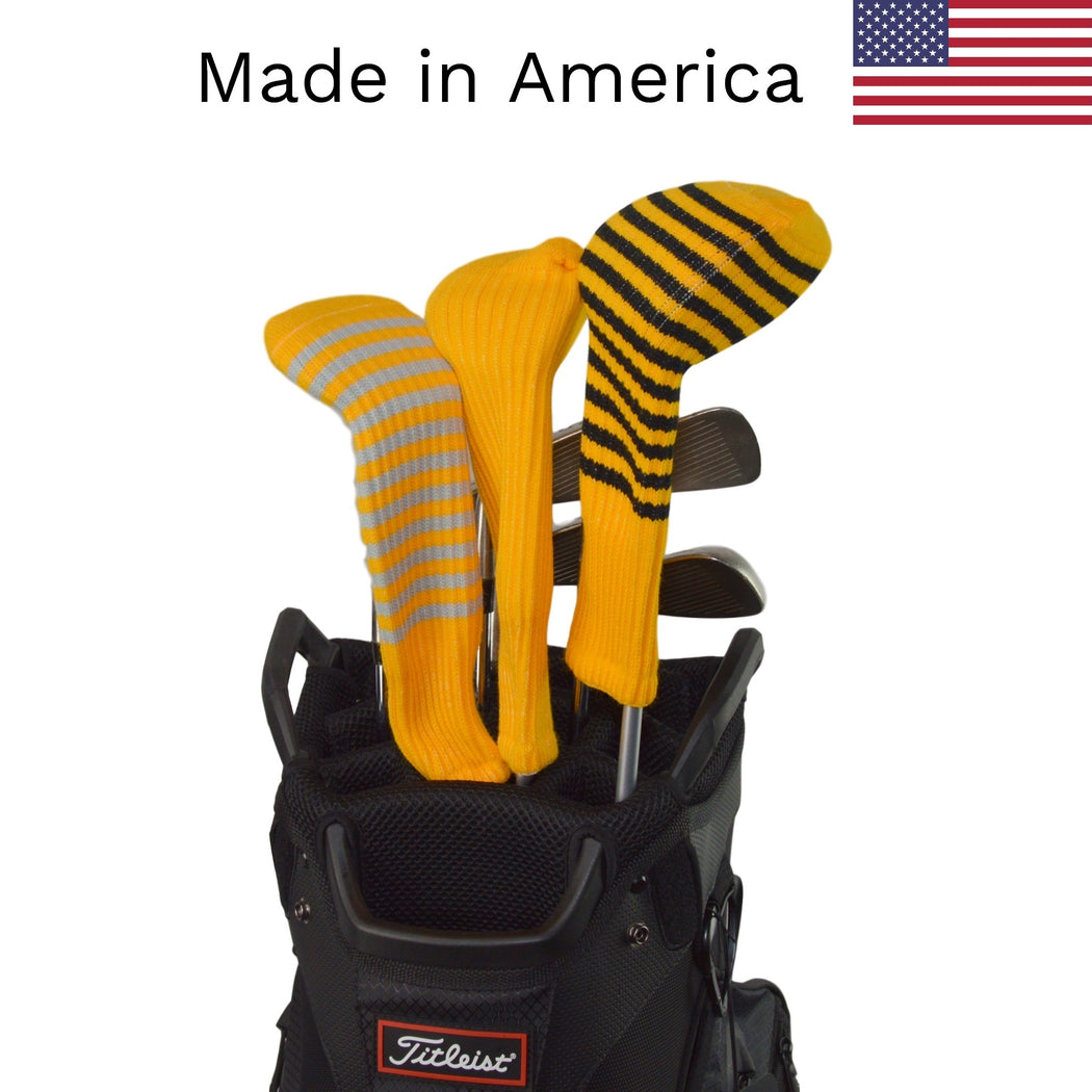 Gold Club Sock Golf Headcovers