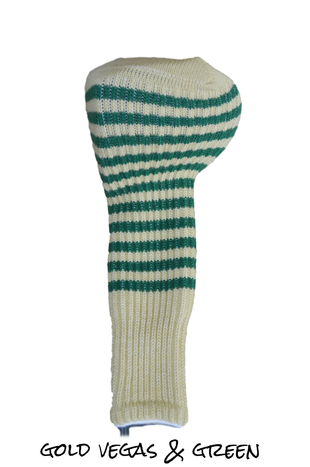 Gold Vegas and Green Club Sock Golf Headcover