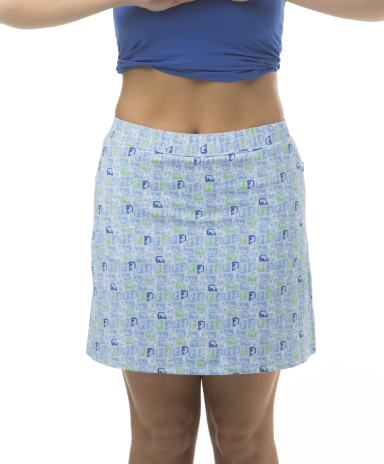 "SanSoleil 18""Golf Skort Golf Cart Derby Blue 