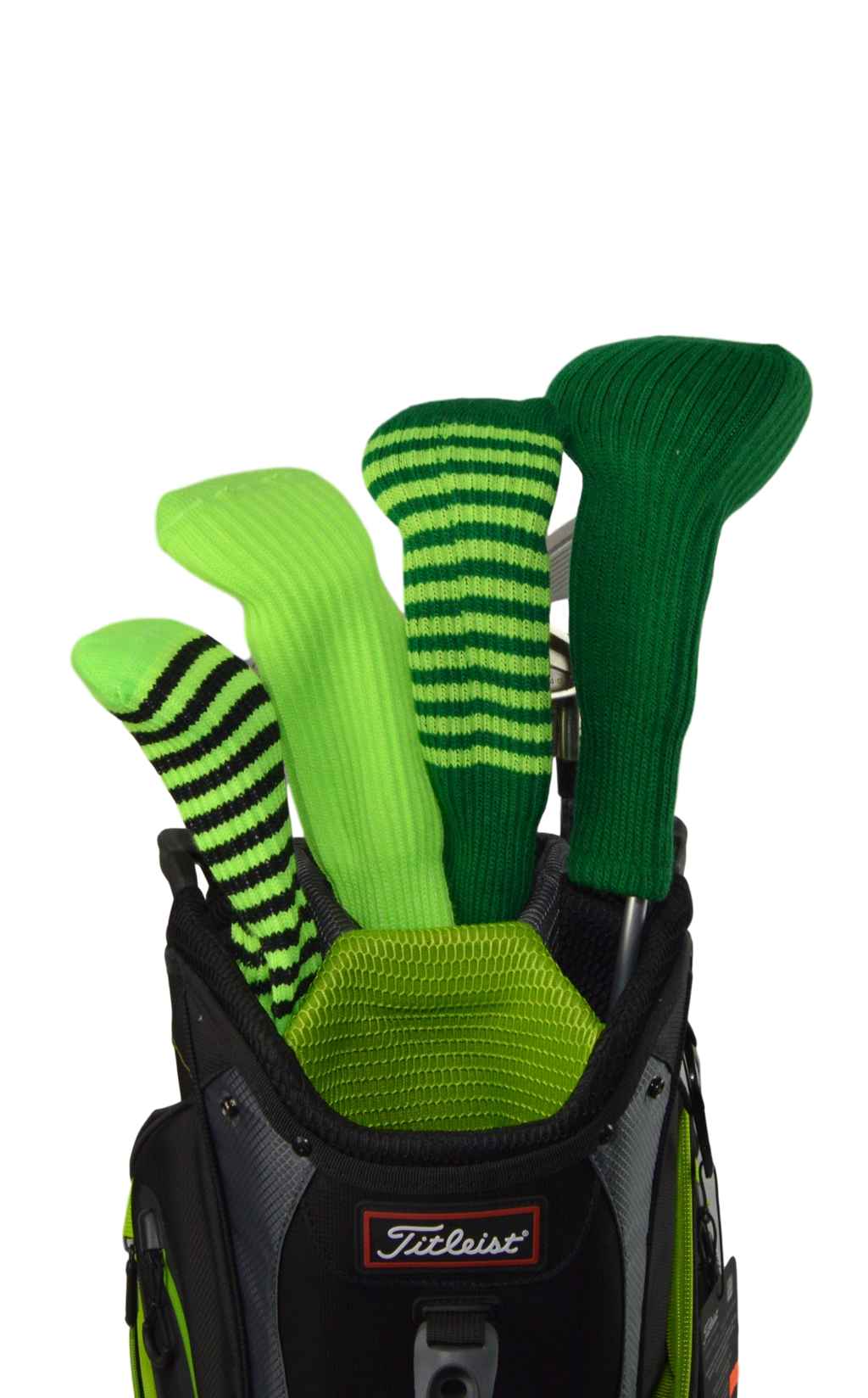 Lime Green and Light Orange Club Sock Golf Headcover