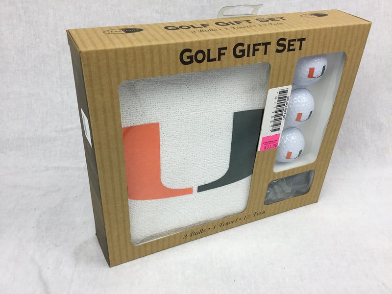 University of Miami Golf Gift Set