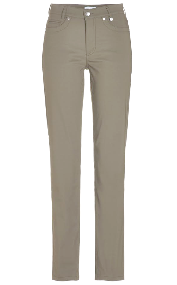Golfino Techno Fine Cotton Blend in Slim Fit - Khaki