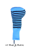 Light Blue and Black Club Sock Golf Headcover | Peanuts and Golf