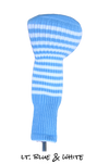 Light Blue and White Club Sock Golf Headcover | Peanuts and Golf
