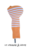 Light Orange and White Club Sock Golf Headcover | Peanuts and Golf