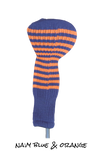 Navy Blue and Orange Club Sock Golf Headcover | Peanuts and Golf