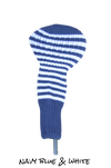 Navy Blue and White Club Sock Golf Headcover | Peanuts and Golf