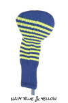 Navy Blue and Yellow Club Sock Golf Headcover | Peanuts and Golf
