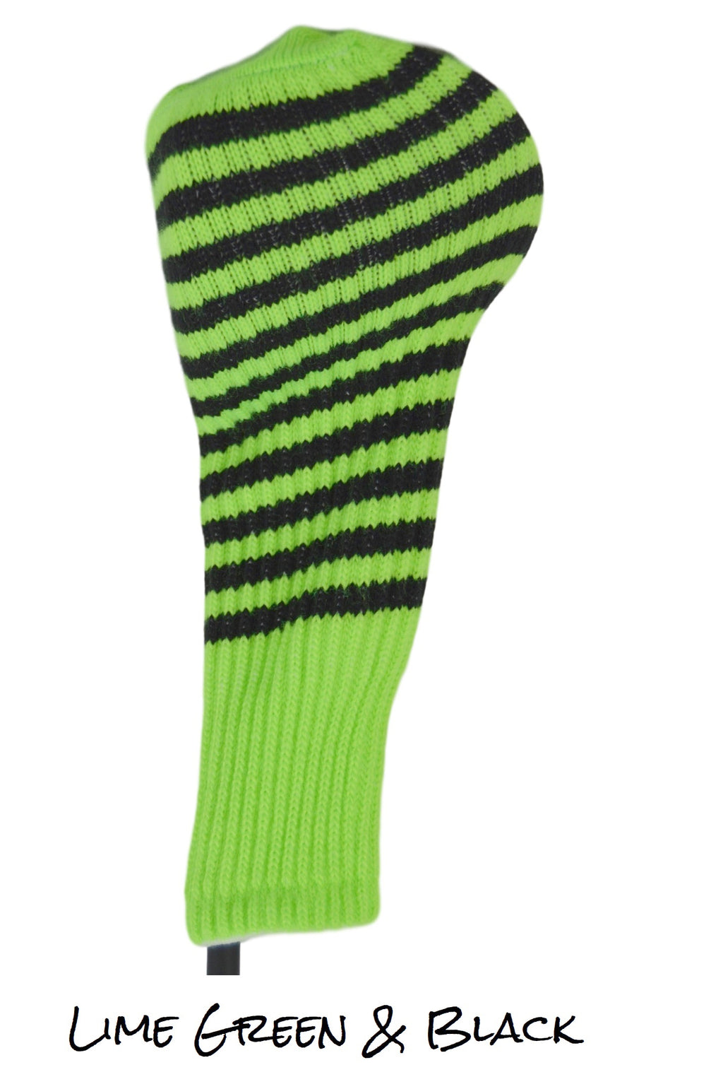 Lime Green and Black Club Sock Golf Headcover