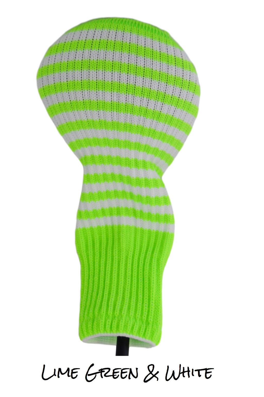 Lime Green and White Club Sock Golf Headcover