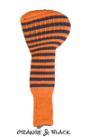 Orange and Black Club Sock Golf Headcover | Peanuts and Golf