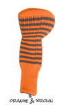 Orange and Brown Club Sock Golf Headcover | Peanuts and Golf