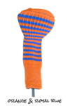 Orange and Royal Blue Club Sock Golf Headcover | Peanuts and Golf
