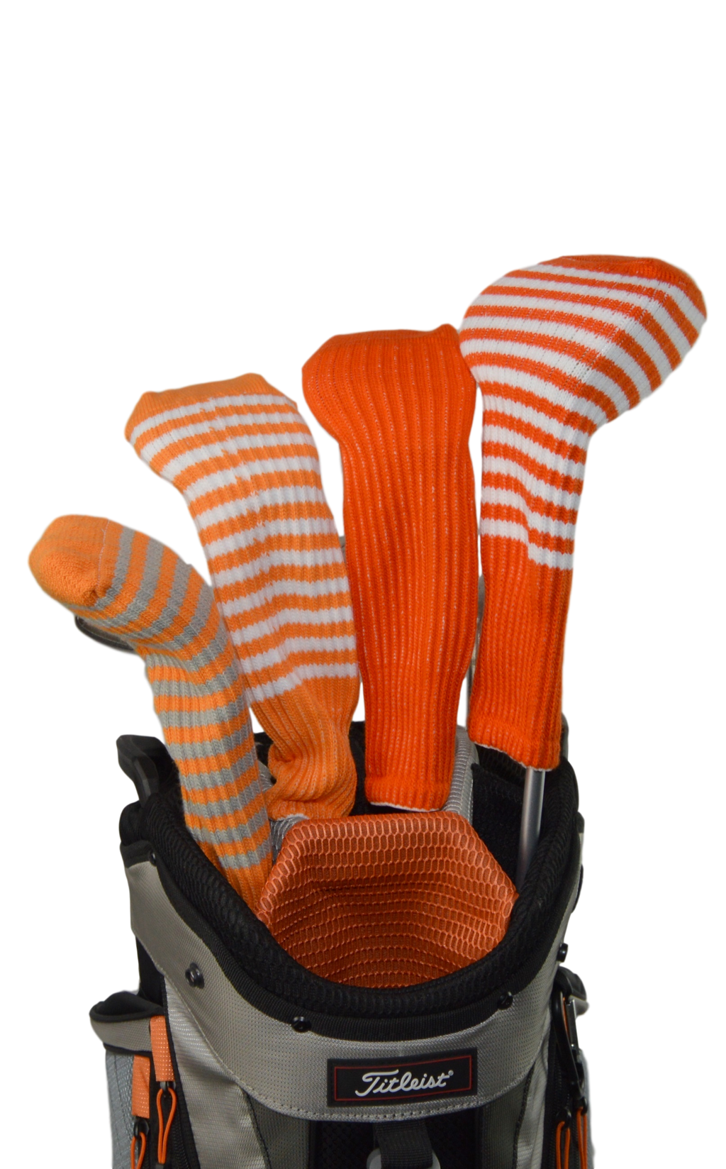 Orange and Maroon Club Sock Golf Headcover