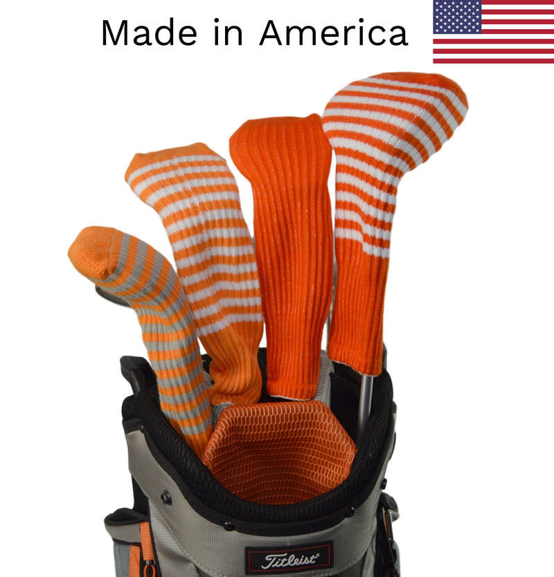 Orange Club Sock Golf Headcovers