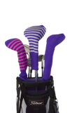 Purple and Gold Club Sock Golf Headcover