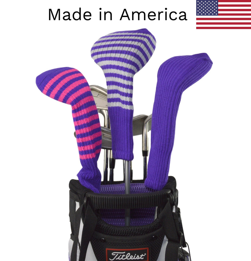 Purple Club Sock Golf Headcovers