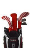 Red and Black Club Sock Golf Headcover