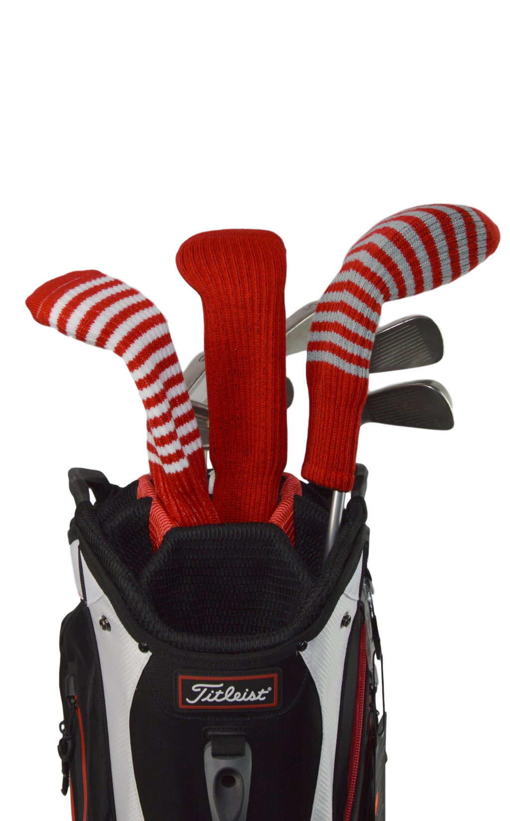 Red and Silver Club Sock Golf Headcover
