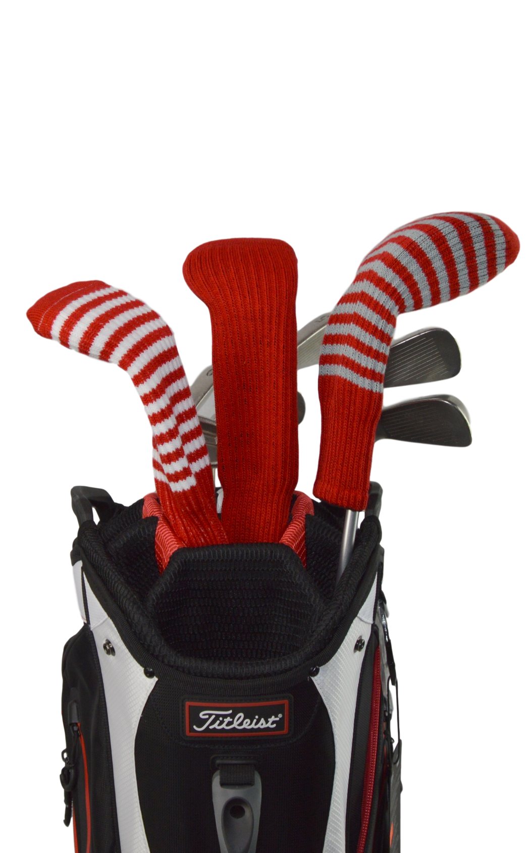 Burgundy Red and White Club Sock Golf Headcover