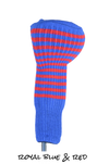 Royal Blue and Red Club Sock Golf Headcover | Peanuts and Golf