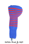 Royal Blue and Red Club Sock Golf Headcover