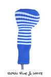 Royal Blue and White Club Sock Golf Headcover | Peanuts and Golf