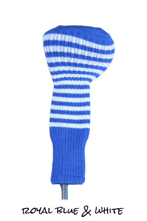 Royal Blue and White Club Sock Golf Headcover