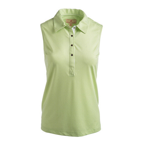 Sport Haley Roxie Sleeveless Polo - Kiwi