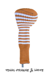 Texas Orange and White Club Sock Golf Headcover | Peanuts and Golf