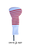 White and Red Club Sock Golf Headcover | Peanuts and Golf