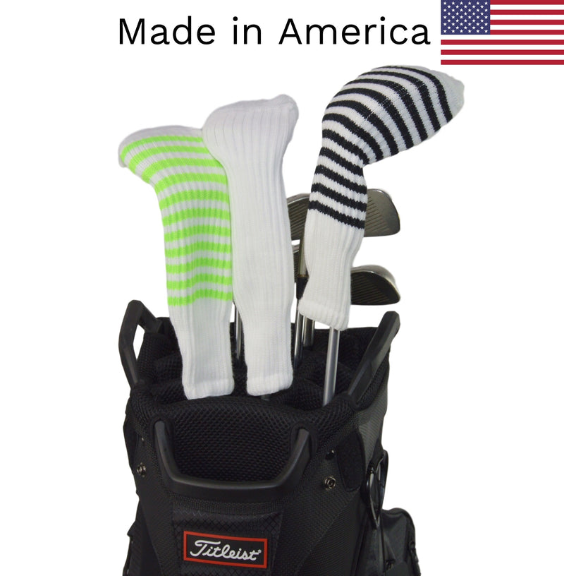 White Club Sock Golf Headcovers