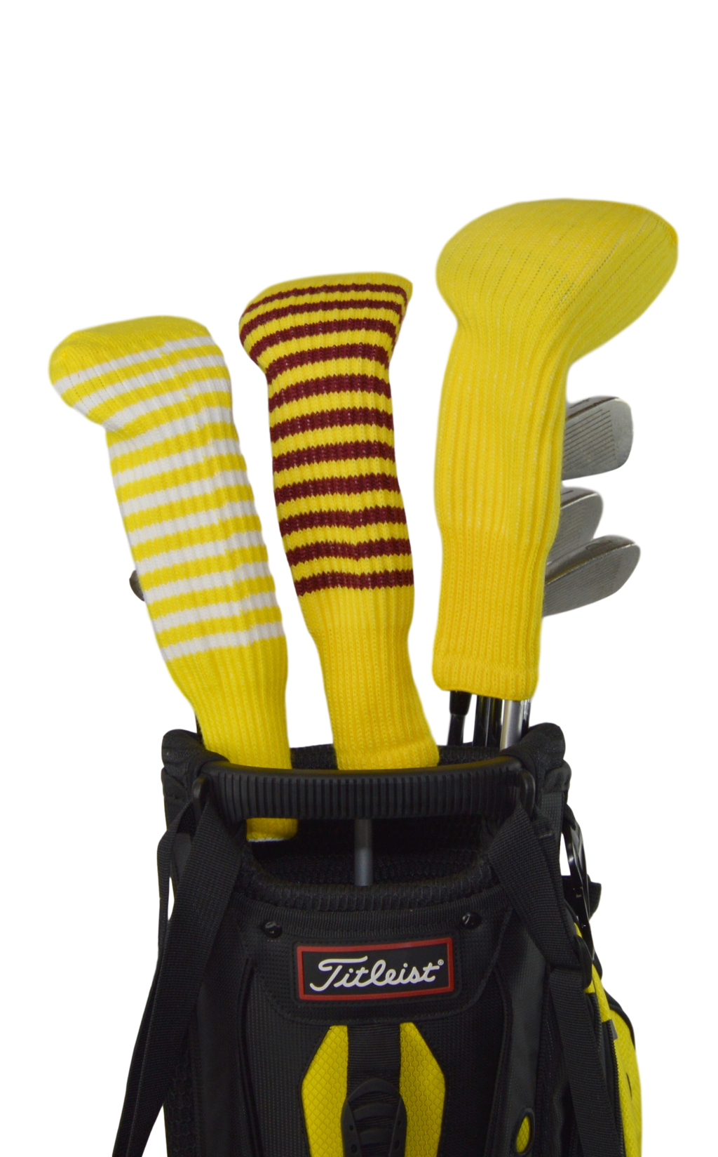 Yellow and White Club Sock Golf Headcover