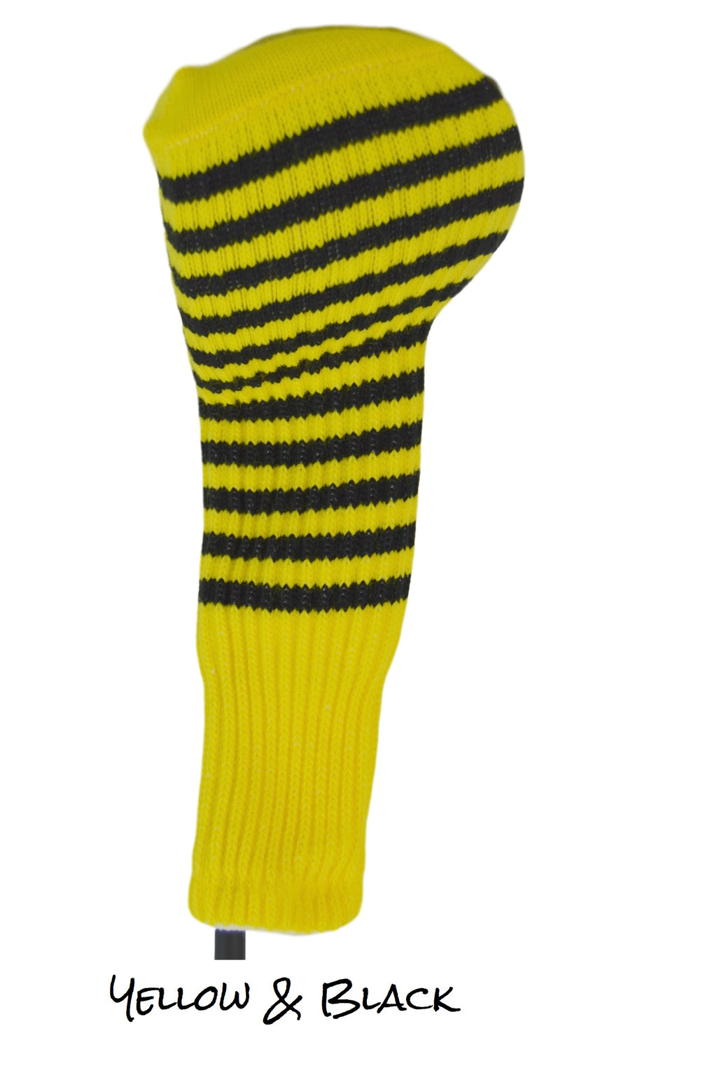 Yellow and Black Club Sock Golf Headcover