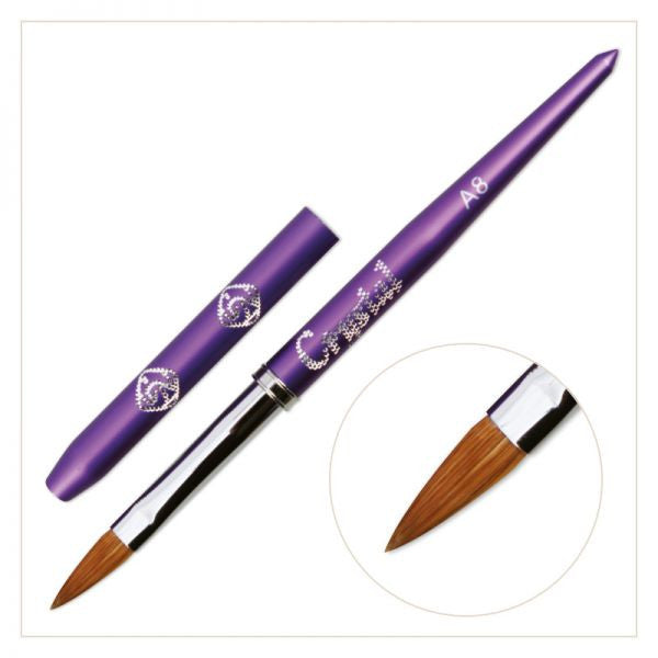 #A8 Acrylic Brush - (with Violet handle)