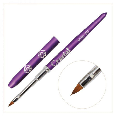#3D MINI Art Brush - (with Violet handle)