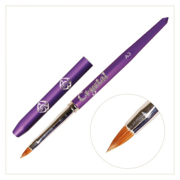 A3 Acrylic Art Brush - (with Violet handle)