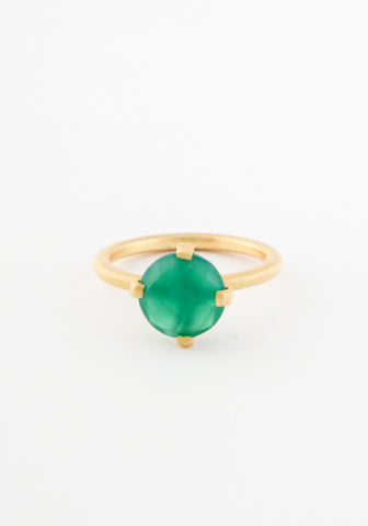 Rain solitaire ring
