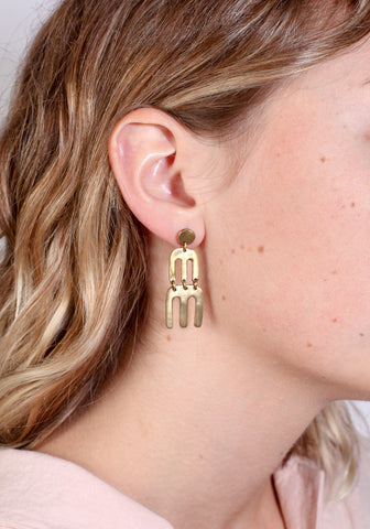 Castle mountain earring