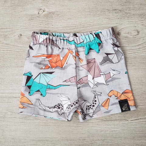 Patterned Basic Shorts