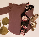 Long Sleeve Flutter Top