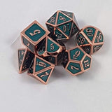 Two Toned  Metal Dice Sets