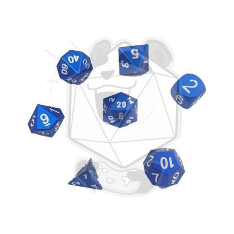 Aluminium 7 PC Dice Sets (solid colors)