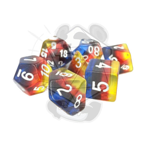 Autumn Blossom Acrylic Dice Set