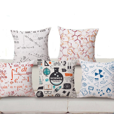 Science Throw pillow covers BOGO 50% Second one