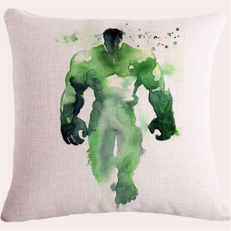 Watercolour superhero throw pillow covers BOGO 50% off Second