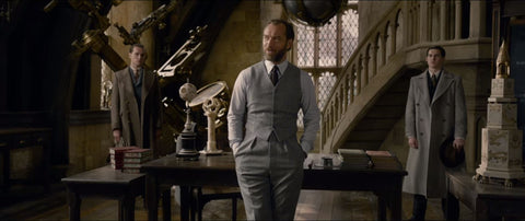 Dumbledore in the Defense Against the Dark Arts classroom