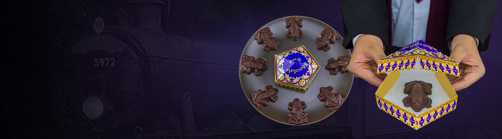 Chocolate Frog Mold (8 cavities) + 8 DIY boxes