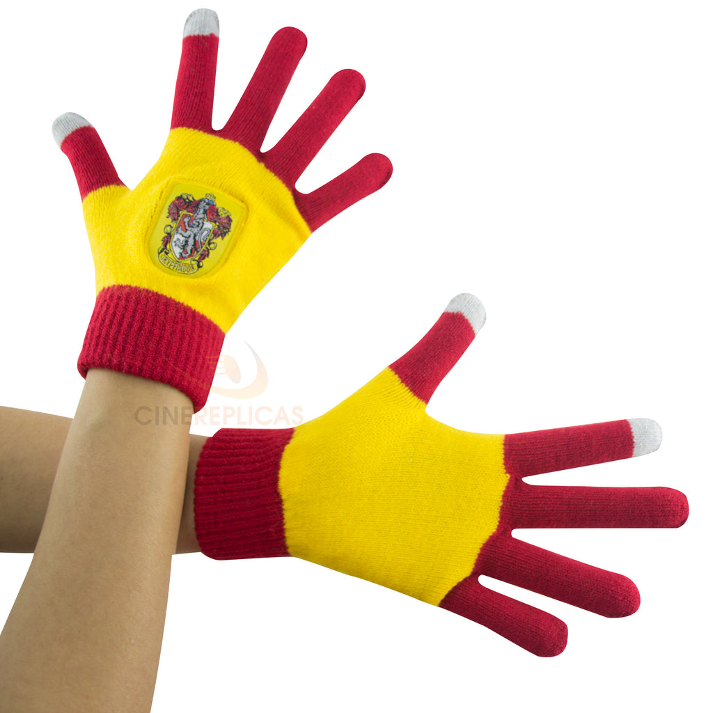 "Red and Gold Gryffindor Screentouch ""Magic Touch"" Gloves"