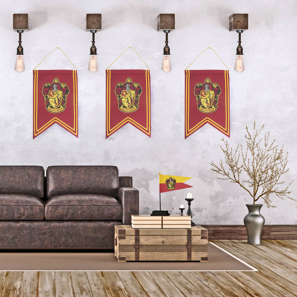 Harry Potter Decoration Gryffindor Banner Flag Set